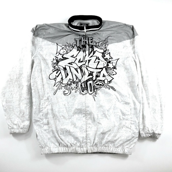 Men/'s ECKO UNLTD Full Zip Jacket Metal Grey